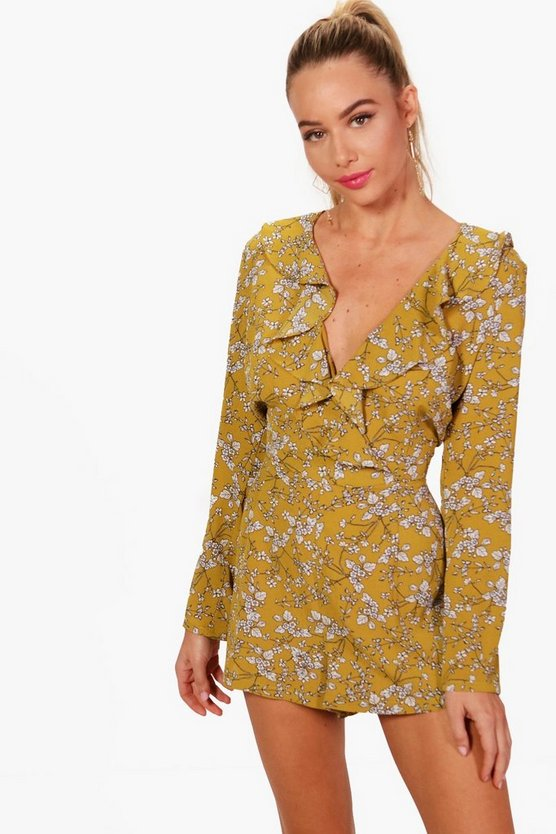 Kelly Floral Tee Style Playsuit