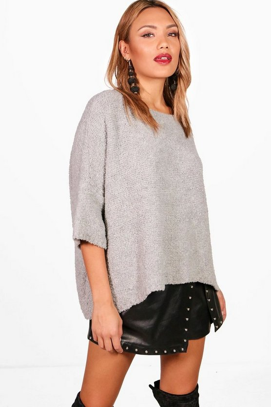 Eve Oversized Boucle Box Knitted Jumper