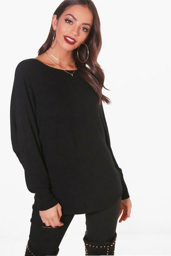 Lucy Batwing Rib Knitted Jumper