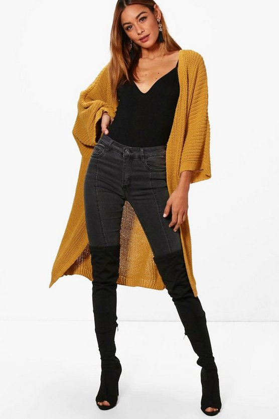 Emma Wide Sleeve Midaxi Cardigan