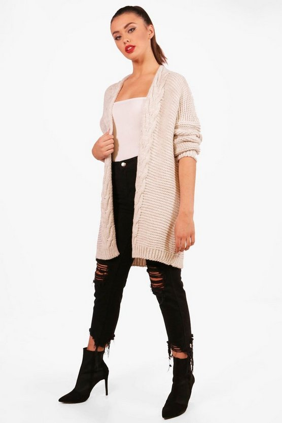 Regan Chunky Cable Knit Cardigan