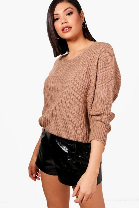 Jade Drop Arm Oversized Knitted Jumper