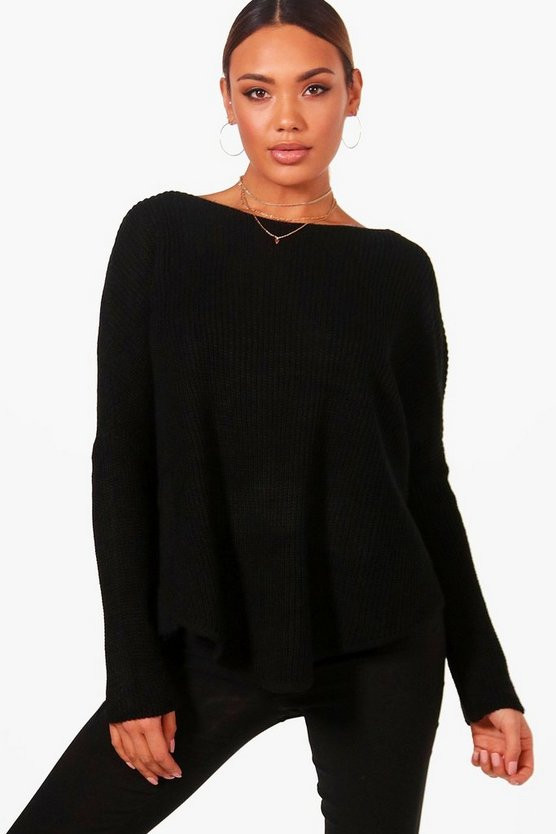 Erin Oversized Curved Hem Jumper