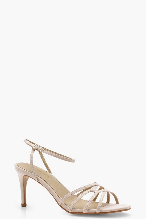Cage Front Low Heels