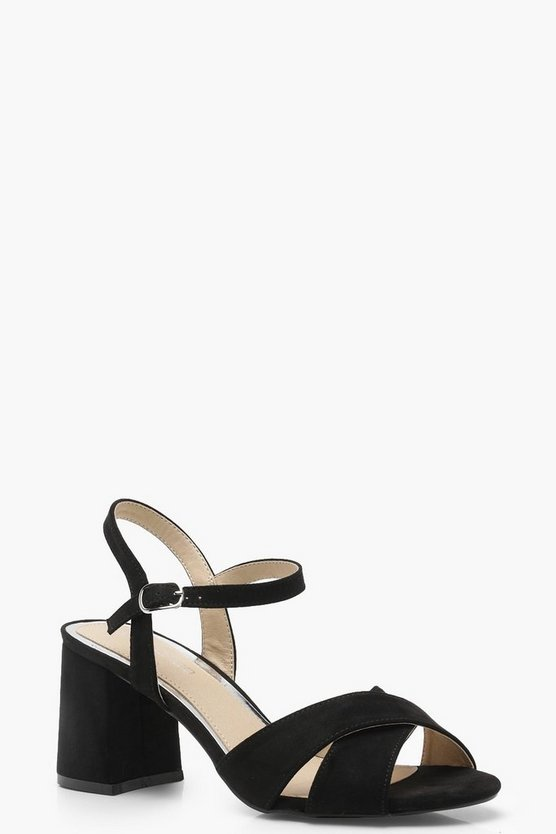 Frankie Cross Strap Block Heels