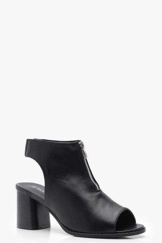 Wide Fit Zip Front Shoe Boots