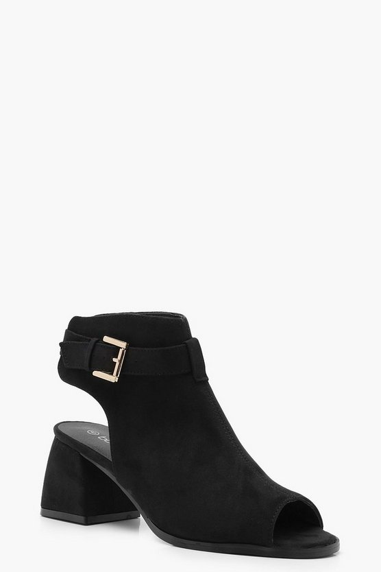 Flared Heel Shoe Boots