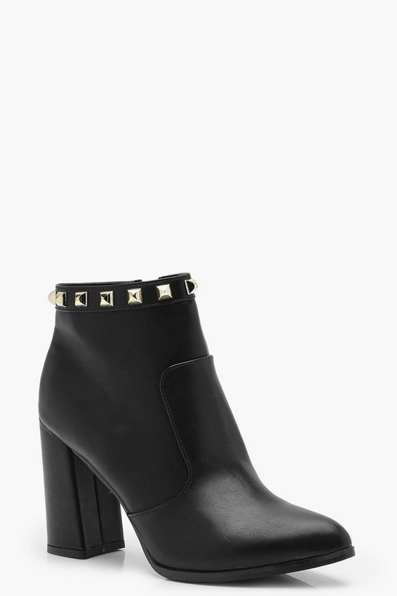 Square Studded Ankle Boots