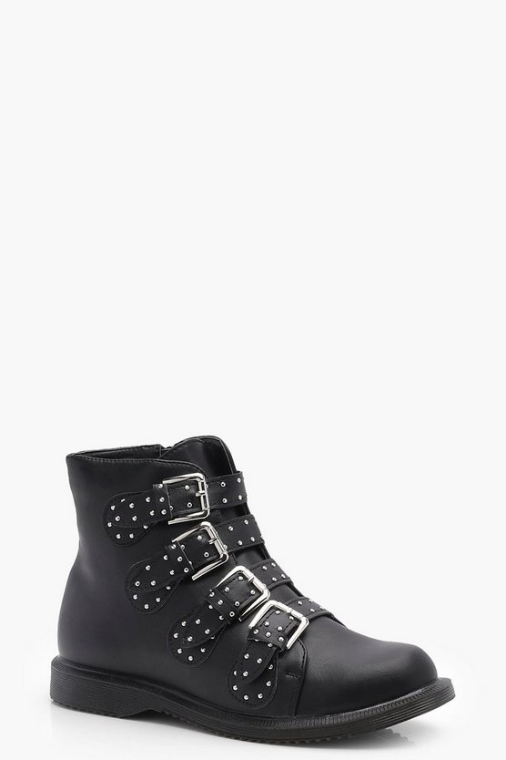 Eloise Studded Strap Ankle Boot