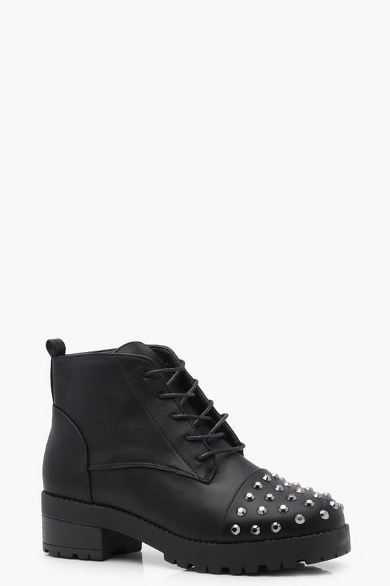 Lillie Studded Toe Hiker Boot