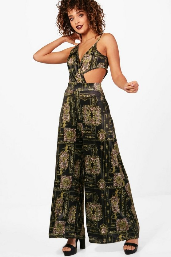 Twist And Drape Culotte Jumpsuit