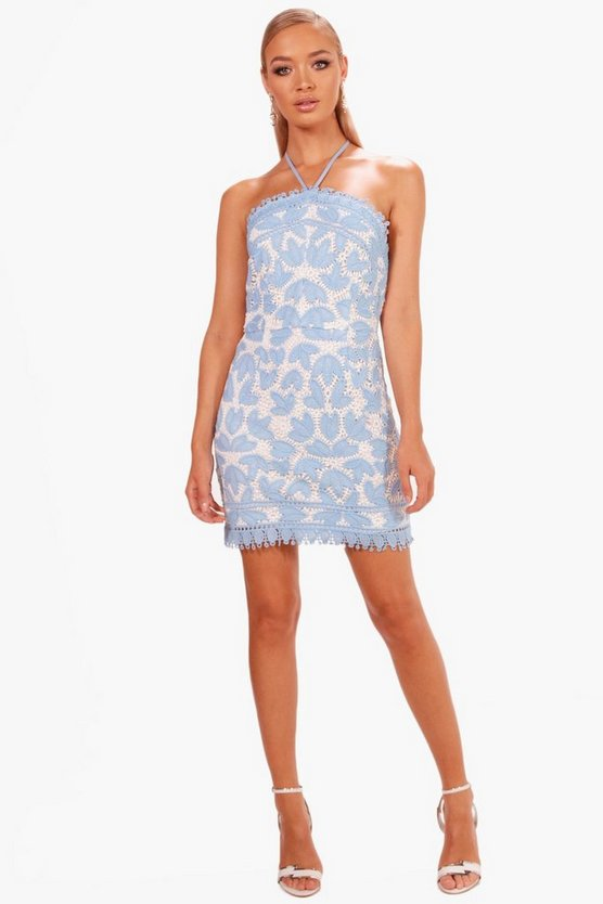 Boutique Marlin Two Tone Lace Bodycon Dress