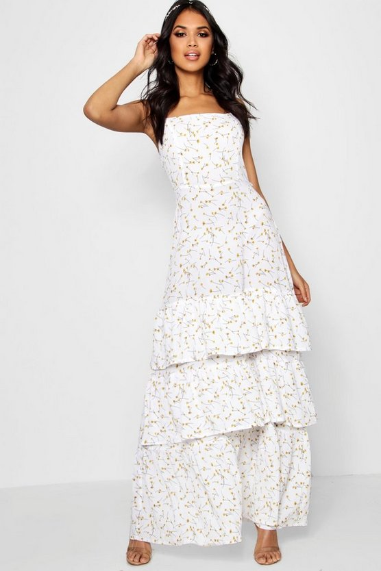 Boutique Paula Ditsy Drop Hem Maxi Dress