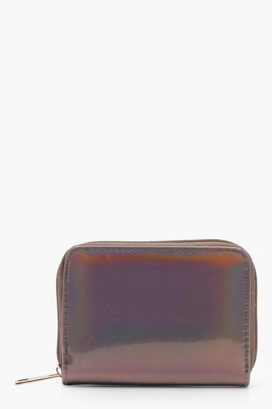 Lucy Holographic Ziparound Purse