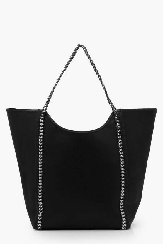 Georgie Chain Detail Shopper Day Bag