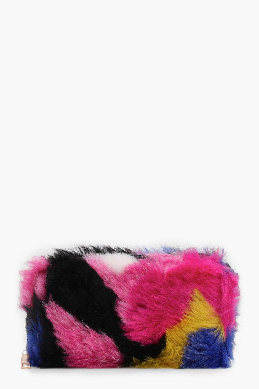 Amy Multi Colour Faux Fur Purse