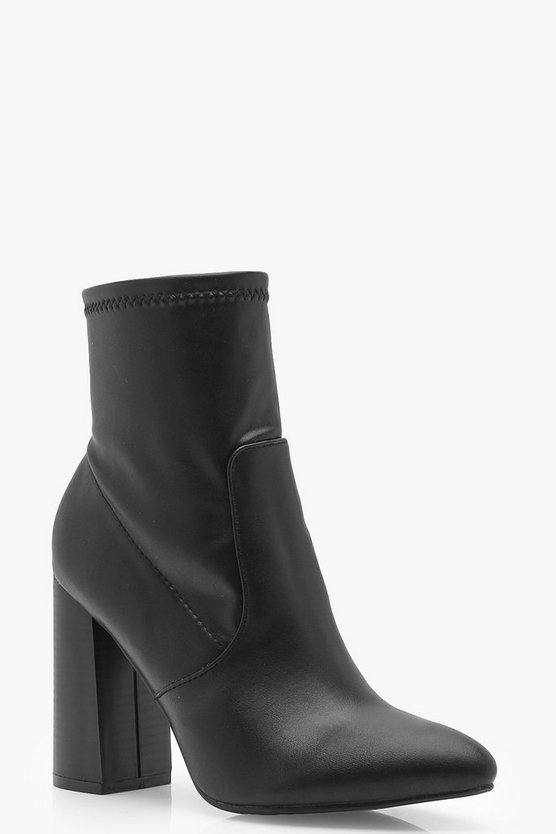 Tia Pointed Toe Sock Boots
