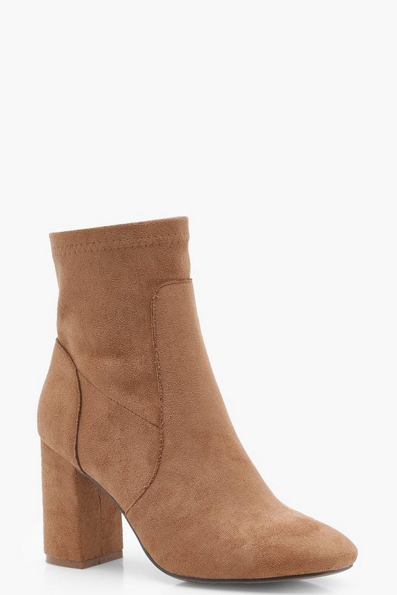 Zoe Square Toe Sock Boots