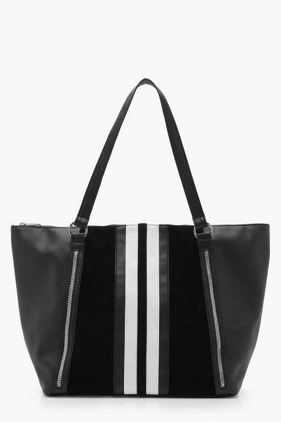Laura Mono Stripe Day Bag