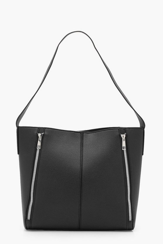 Paige Double Zip Shoulder Bag