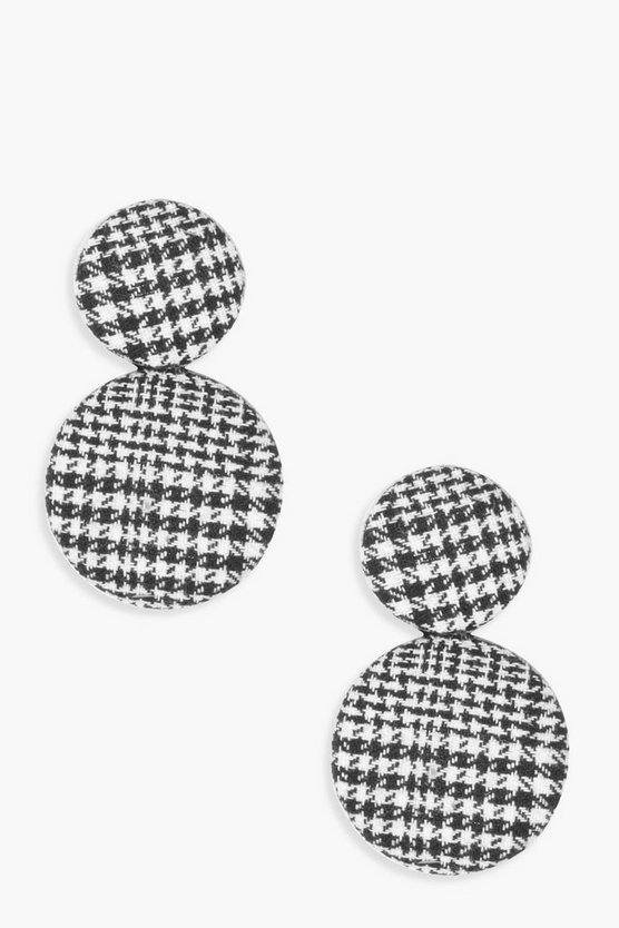 Layla Checked Circle Earrings