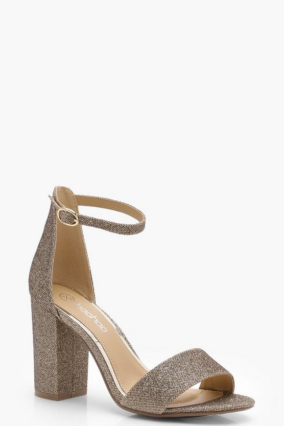 Harriet Shimmer Block Heels