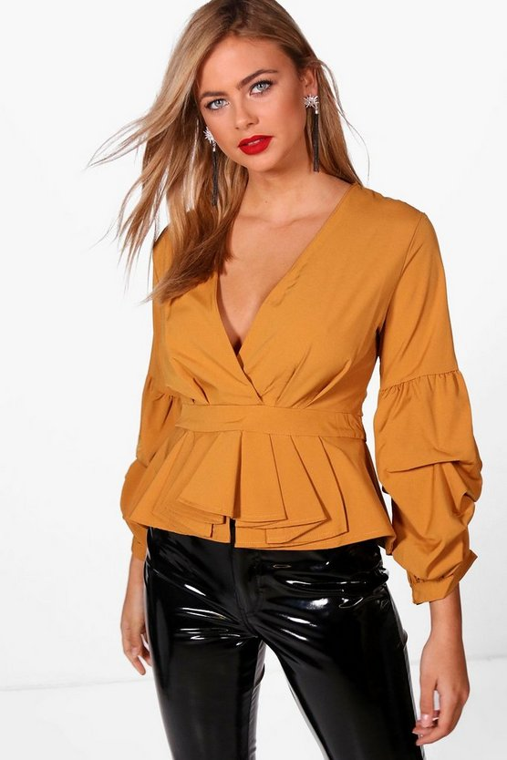 Melanie Volume Puff Sleeve Blouse