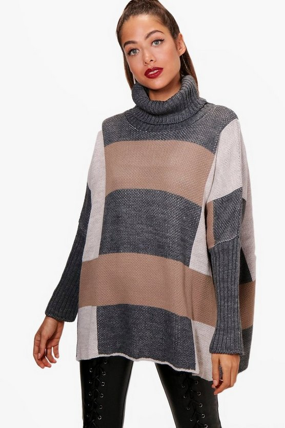 Fran Colour Block Oversized Jumper