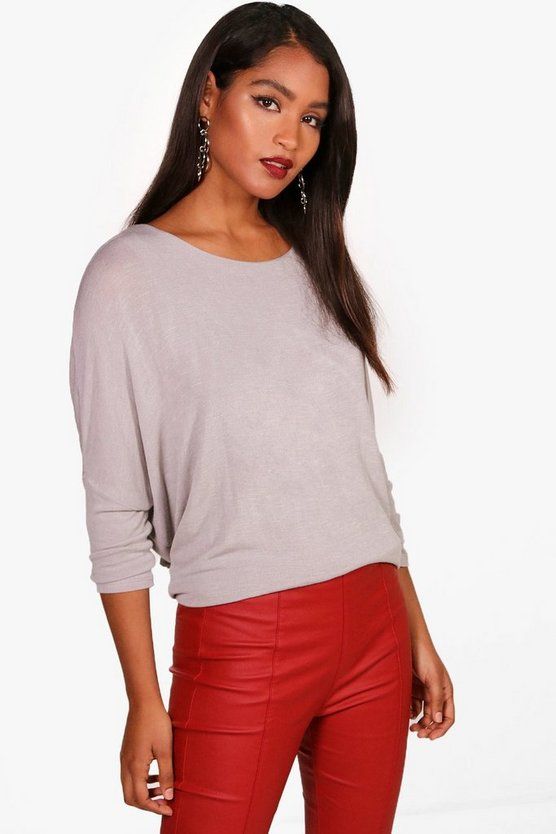 Oversized Batwing Knitted Top