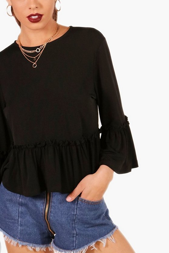 Camilla Ruffle Detail Trim Top