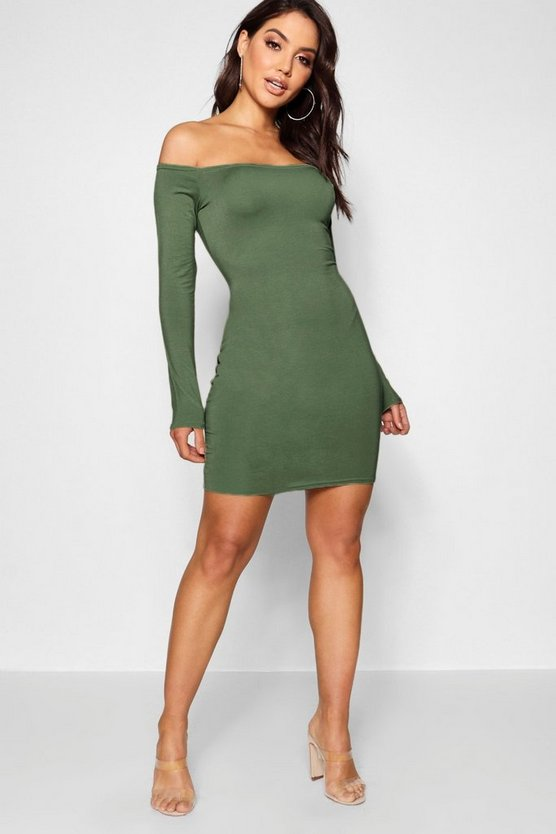 Renee Off The Shoulder Bodycon Dress