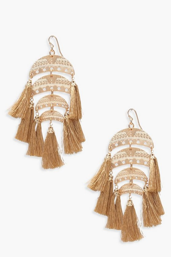 Millie Tiered Chandelier Tassel Earrings