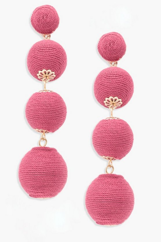 Millie Statement Tiered Balll Earrings