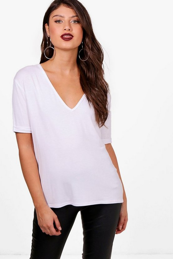 Hazel Oversized V Neck T-Shirt