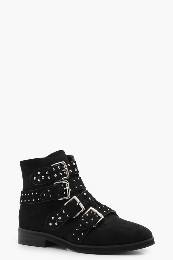 Sara Studded Strap Ankle Boot