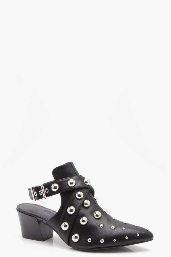 Lexi Studded Open Back Shoe Boot
