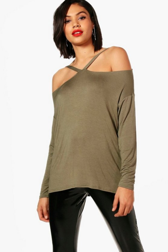 Kinsley Strappy Neck T-Shirt