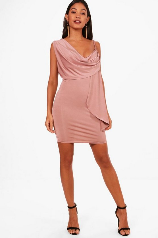 Krissy Strappy Drape Bodycon Dress