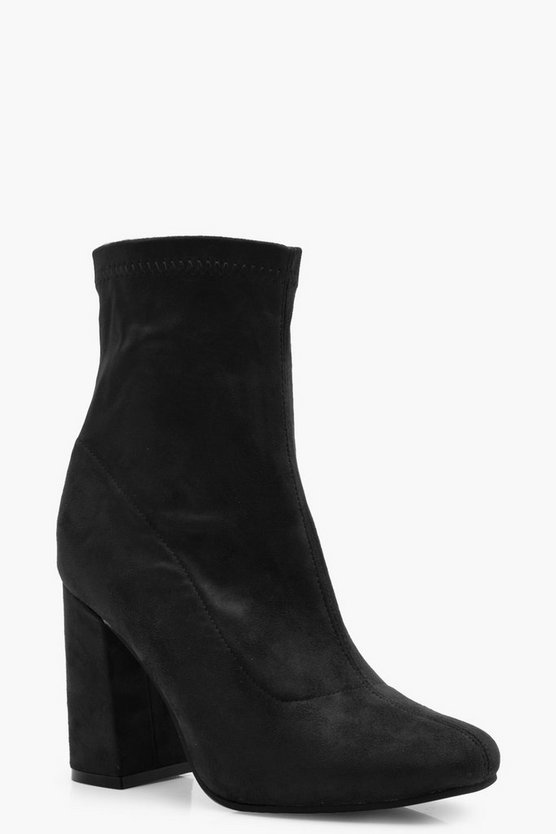 Erin Block Heel Sock Boot
