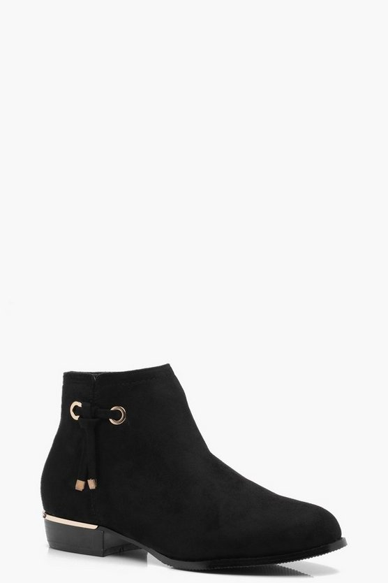 Alice Tie Trim Chelsea Boot