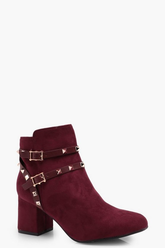 Imogen Stud Block Heel Shoe Boot