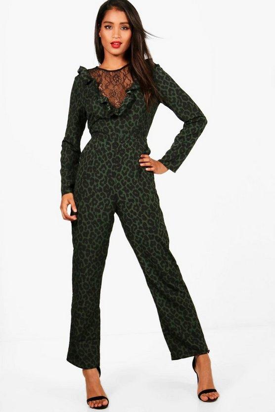 Leopard Print Lace Ins...