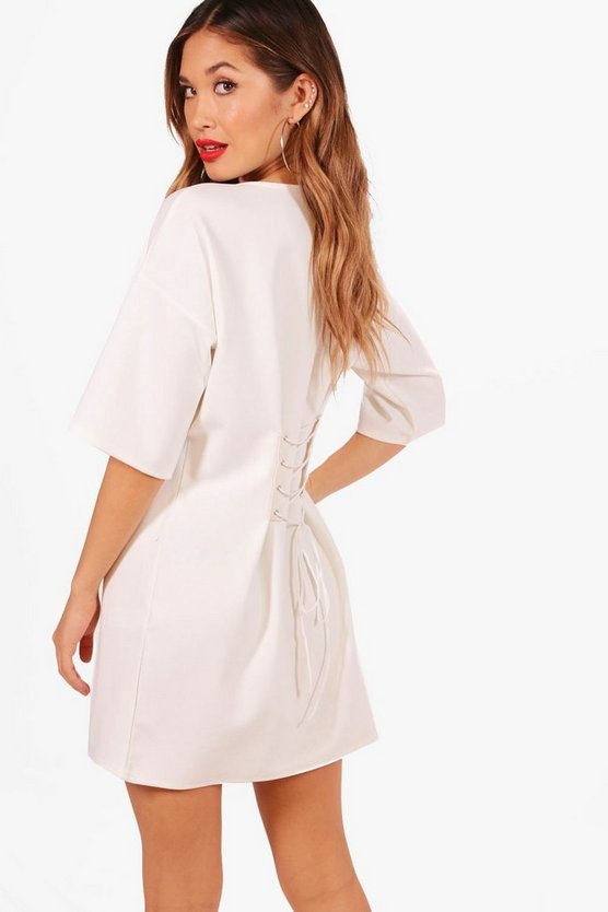 Maisie Corset Lace Up Back Shift Dress