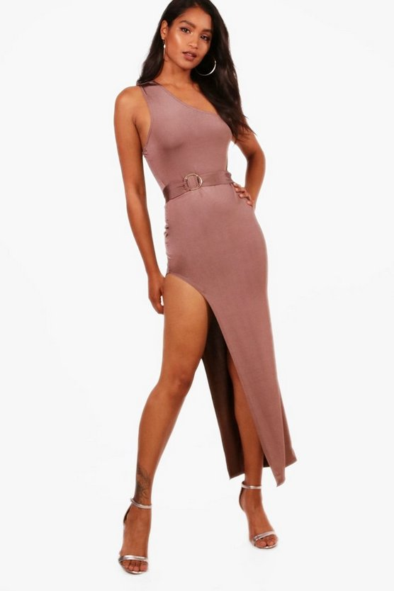 Harley One Shoulder Tie Waist Maxi Dress