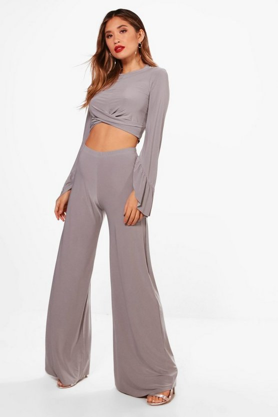 Slinky Knot Crop and Wide Leg Trouser