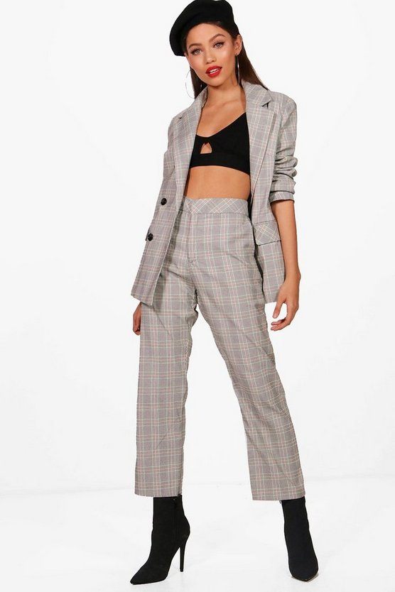 Leah Prince Of Wales Check Trouser