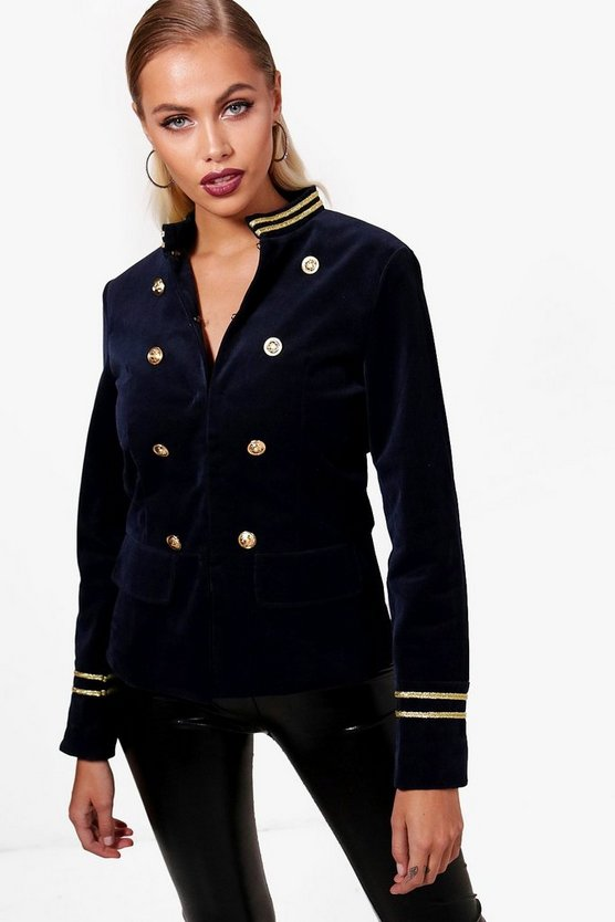 Harper Cord Military Jacket