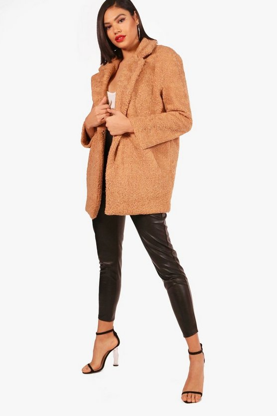 Thea Teddy Faux Fur Chuck On Coat