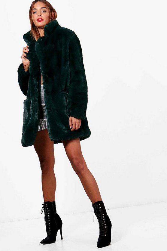 Boutique Faux Fur Coat