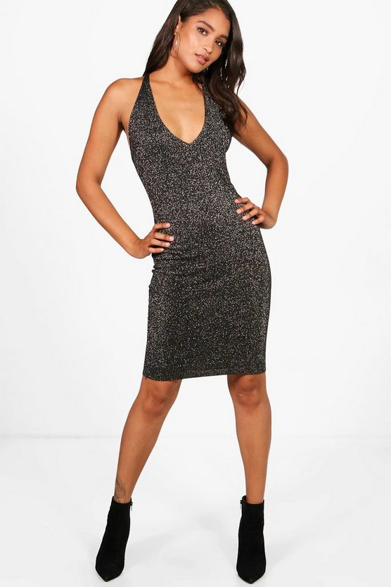 Harriet Metallic Knitted Strappy Dress